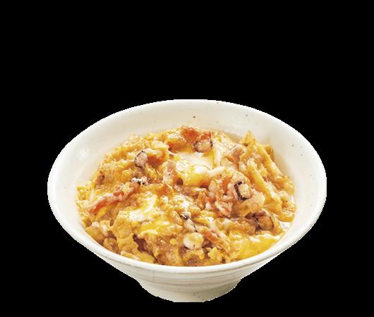 山田うどんのミニかき揚げ丼 (スープ付き)