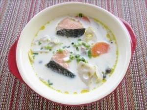 鮭と根菜の和風シチュー