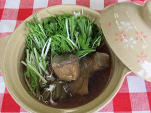 ぶりと水菜のハリハリ鍋