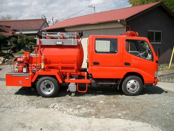 小型動力ポンプ付水槽車