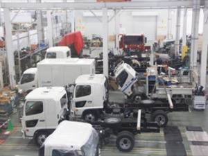 飛鳥車両特装グループ 相模原工場内