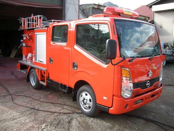 小型動力ポンプ積載車(シャッタータイプ)